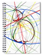Abstract Pen Drawing Seventy-four Spiral Notebook