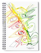 Abstract Pen Drawing Seventy-one Spiral Notebook