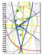 Abstract Pen Drawing Seventy-three Spiral Notebook