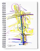 Abstract Pen Drawing Seventy-two Spiral Notebook
