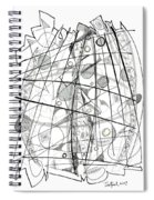 Abstract Pen Drawing Sixty-eight Spiral Notebook