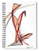 Abstract Pen Drawing Sixty-five Spiral Notebook