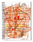 Abstract Pen Drawing Sixty-one Spiral Notebook