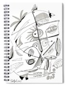 Abstract Pen Drawing Sixty-seven Spiral Notebook