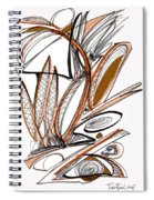 Abstract Pen Drawing Sixty-six Spiral Notebook