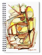 Abstract Pen Drawing Sixty-three Spiral Notebook