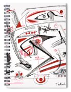 Abstract Pen Drawing Thirty-nine Spiral Notebook