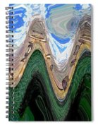 Abstract - Penguins On Ice Spiral Notebook