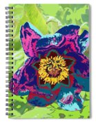 Abstract Peonies Spiral Notebook