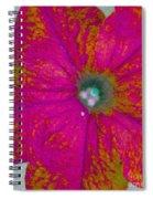 Abstract Petunia Spiral Notebook