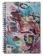 Abstract Pink Blue Painting Spiral Notebook