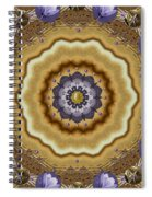 Abstract Pond In Gold Spiral Notebook