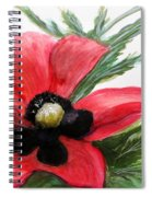 Abstract Poppy Spiral Notebook