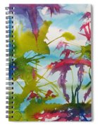 Abstract -  Primordial Life Spiral Notebook