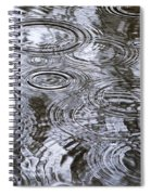 Abstract Raindrops Spiral Notebook