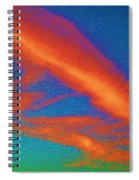 Abstract Red Blue And Green Sky Spiral Notebook