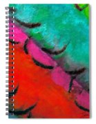 Abstract Red Blue Spiral Notebook