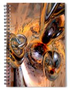 Abstract Ring Connections Spiral Notebook