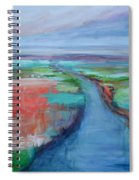 Abstract River Spiral Notebook