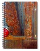 Abstract Rust Spiral Notebook