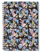 Abstract Shapes Collage Spiral Notebook