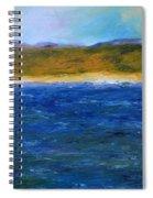 Abstract Shoreline Spiral Notebook