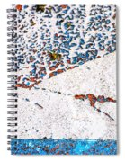 Abstract Snow Storm Spiral Notebook