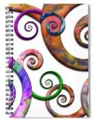 Abstract - Spirals - Planet X Spiral Notebook