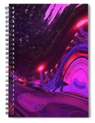 Abstract Street Scene Spiral Notebook