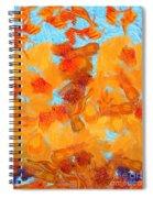 Abstract Summer Spiral Notebook