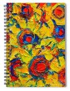 Abstract Sunflowers Spiral Notebook