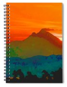 Abstract Sunrise Spiral Notebook