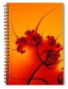 Abstract Sunset Fractal Spiral Notebook