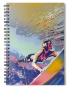 Abstract Surf Spiral Notebook