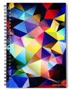 Abstract Triangles And Texture Spiral Notebook