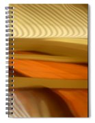 Abstract Triptych - Omaha Library Building Spiral Notebook