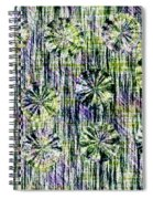 Abstract Umbrellas In Rain Spiral Notebook