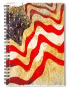 Abstract Usa Flag Spiral Notebook