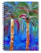 Abstract Venice Palms Spiral Notebook