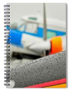 Abstract View Of Airshow During A Rain Storm Spiral Notebook