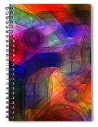 Abstract Watercolor Spiral Notebook