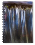 Abstract Waterfalls Childs National Park Painted  Spiral Notebook