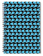 Abstract Waves On A Black Background Spiral Notebook