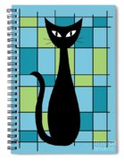 Abstract With Cat In Blue Spiral Notebook