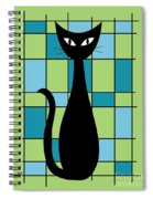 Abstract With Cat In Green Spiral Notebook
