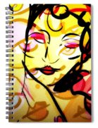 Abstract Woman Spiral Notebook
