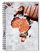Abstract World Map - Chocolates - Confections - Candy Shop Spiral Notebook