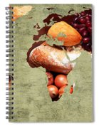Abstract World Map - Harvest Bounty - Farmers Market Spiral Notebook