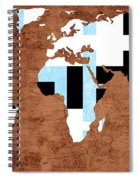 Abstract World Map - Which Way Is Up - Painterly Spiral Notebook
