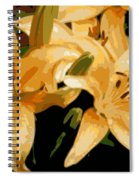 Abstract Yellow Asiatic Lily - 1 Spiral Notebook